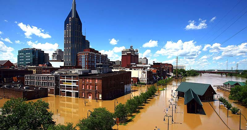 In 2010, Nashville received 13.57 inches of rain within 36 hours