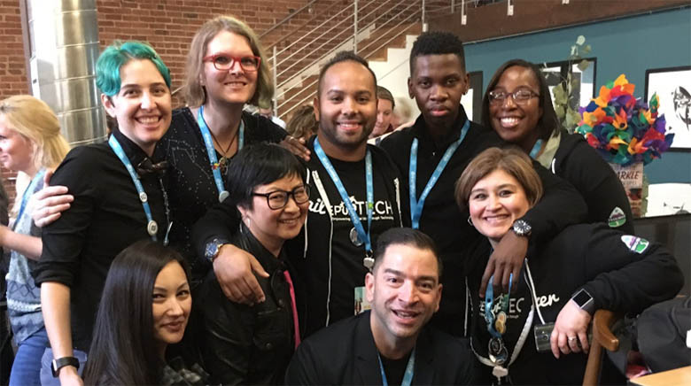Community photo at the Amplify Breakfast at Dreamforce 2018, Credit: Rachel Park