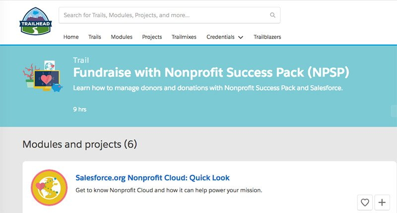 Learn about nonprofit CRM best practices with Trailhead for free!