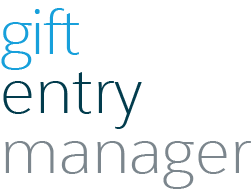 Gift Entry Manager