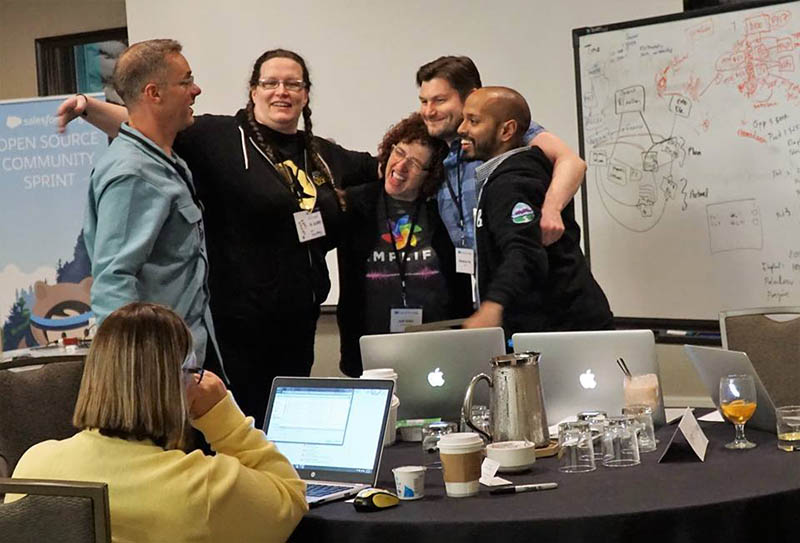 The Salesforce community is like a big family, and we get together 4 times a year to collaborate on open source software for education institutions like yours.