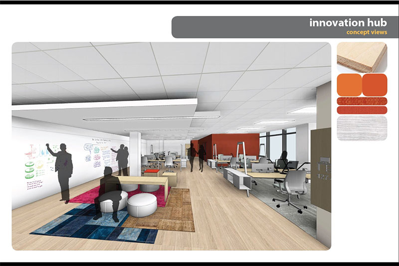 A conceptual view of the CARE Atlanta Global Innovation Hub.