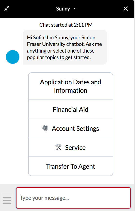 Higher Ed Chatbot
