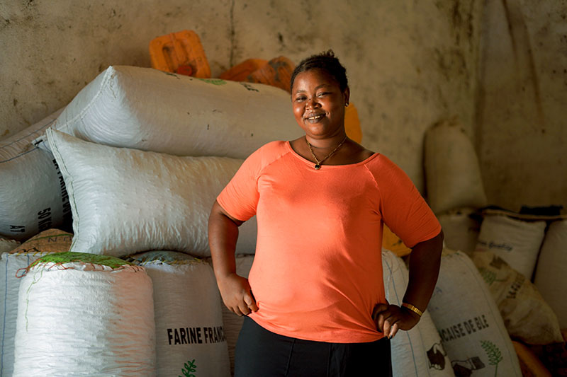 In Mabonkani, many of the women run agriculture businesses and store harvest until market prices are ideal for sale.