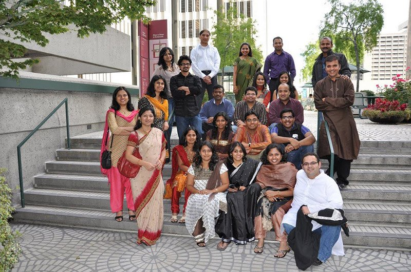 Salesforce employees dressed for a Diwali celebration