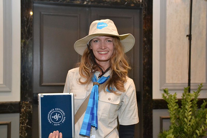 A Trail Guide at Dreamforce helps people find their way