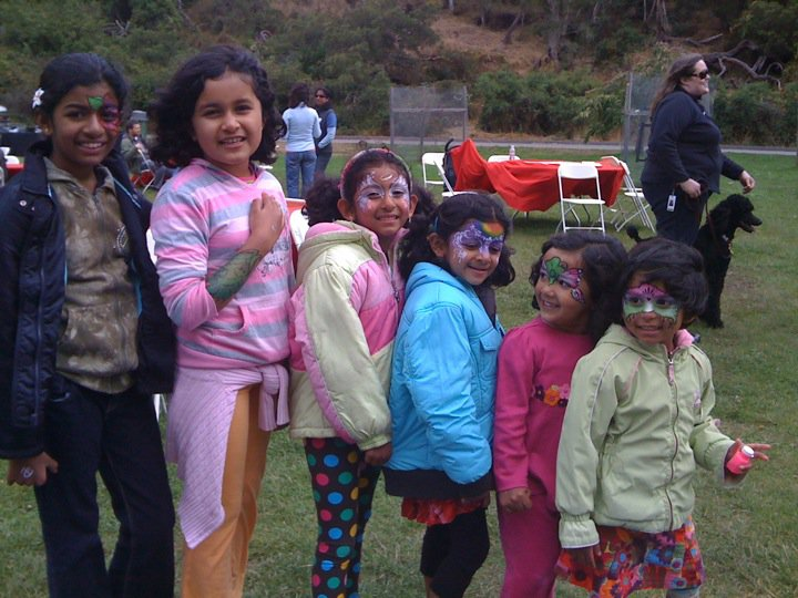 Employees' children participating in a company-based event. Photo courtesy of Saradha Rajagopalan.