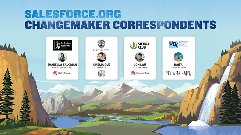 Join us on a journey around the world with Salesforce.org Changemaker Correspondents