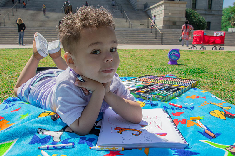 Child with an art activity