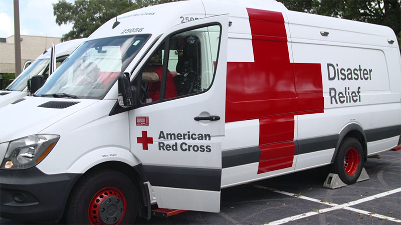 An emergency response vehicle. Photo courtesy of the American Red Cross.