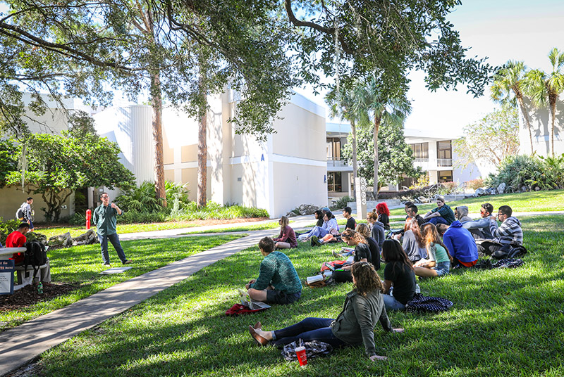 A college campus photo from Santa Fe College