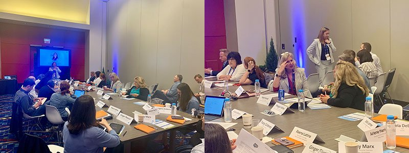 Senior leaders in nonprofit marketing gathered for an innovation exercise over lunch at Connections 2019 in Chicago.