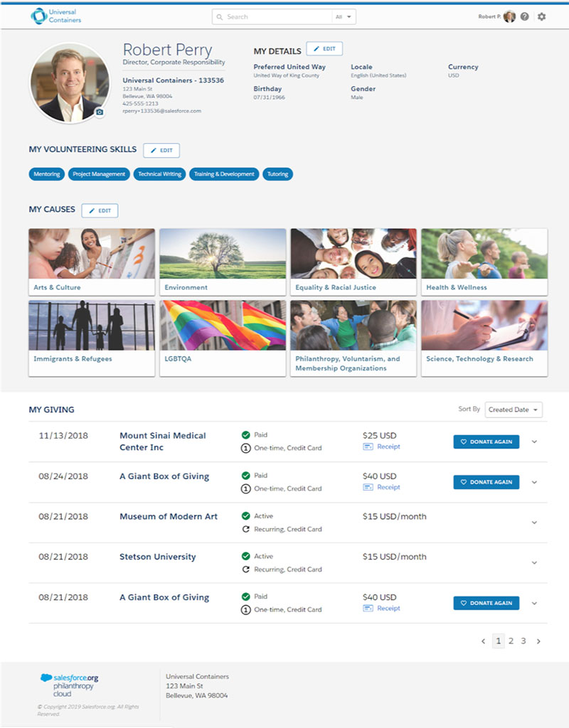 Philanthropy Cloud aims to connect every employee to the causes they are most passionate about and provides each individual full visibility into his or her social impact footprint from any device.