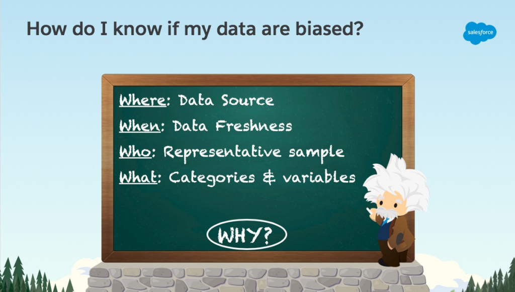 An image describing how to know if your data are biased.