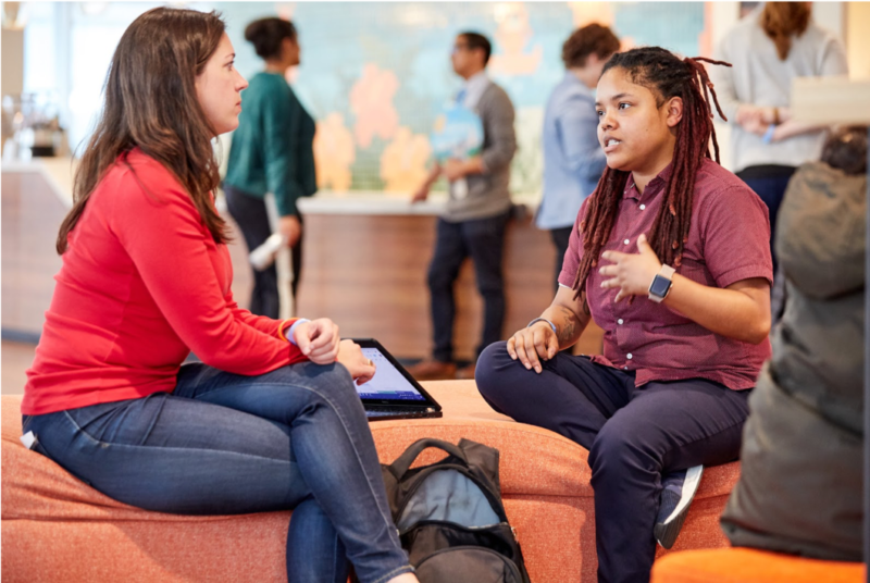 A mentoring session hosted at Salesforce