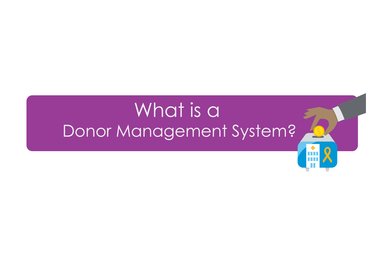What is a donor management system