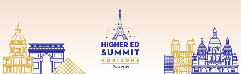 Higher Ed Summit Horizons in Paris takes place in October, 2019