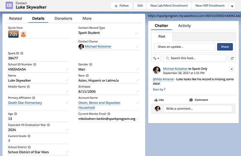 Salesforce Lightning screenshot