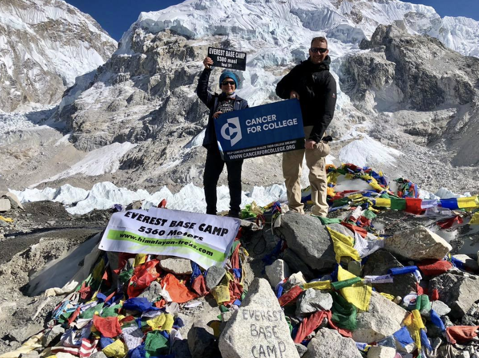 Amelia Old at Everest Base Camp as part of a nonprofit fundraiser.