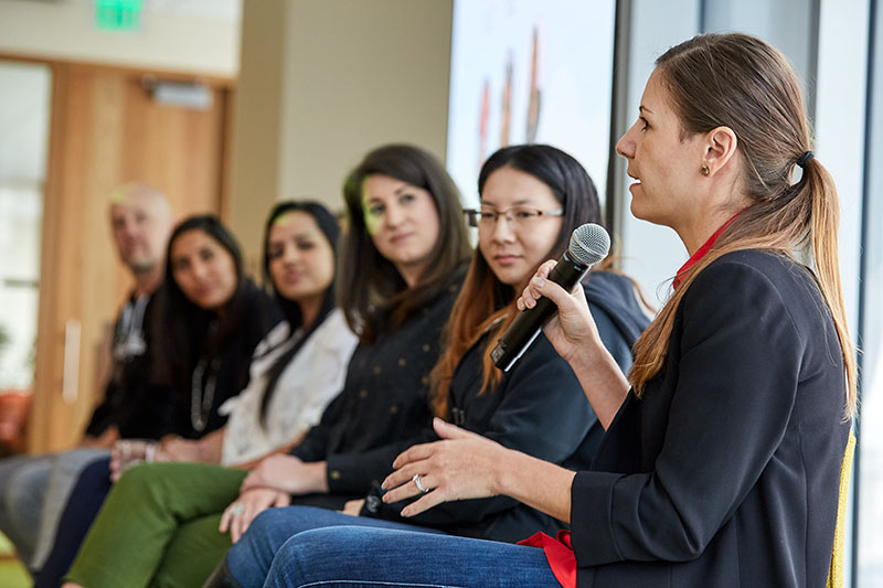 Salesforce employees discuss organizational purpose