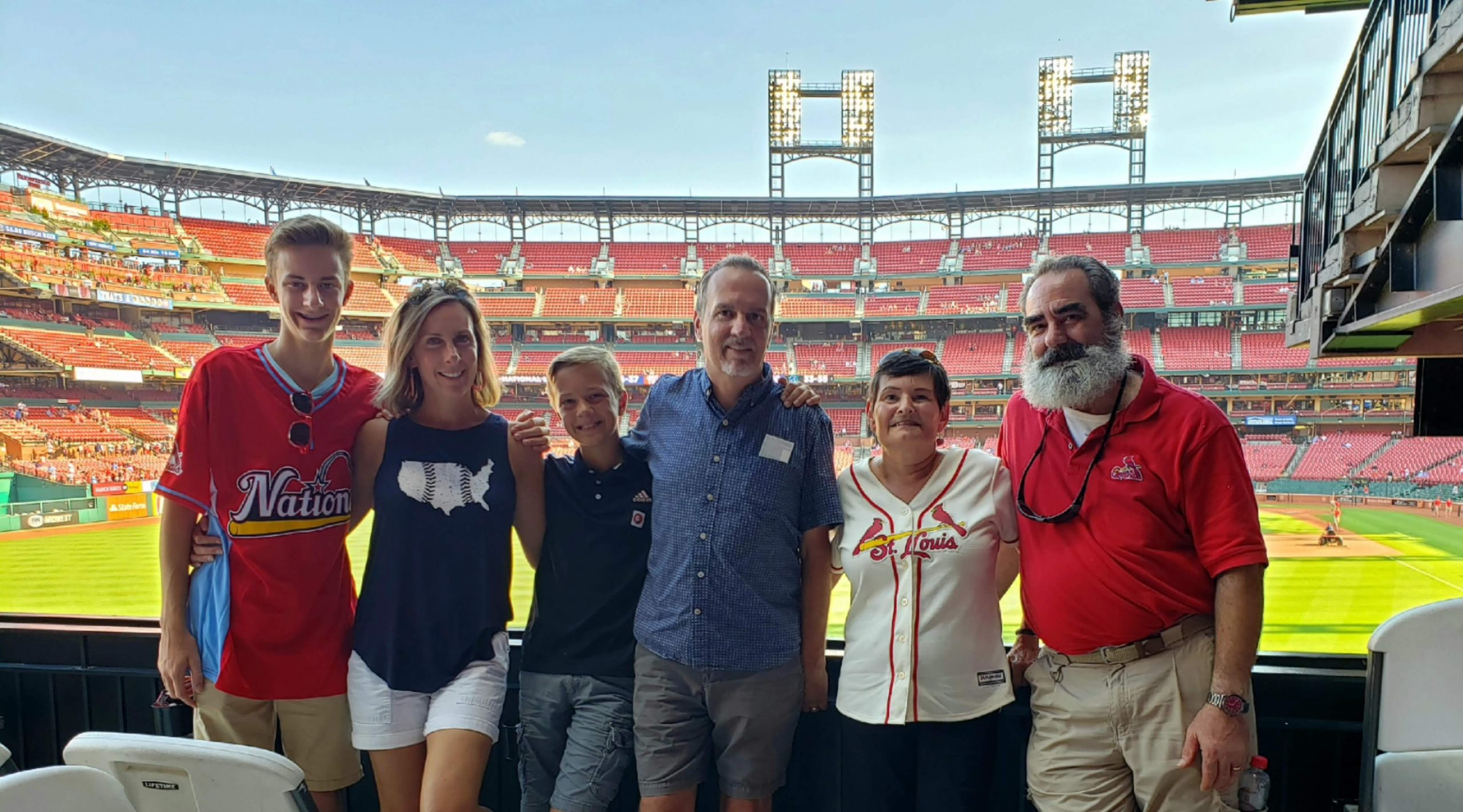 Larry and his family raising awareness of ALS in a tour of ballparks around the U.S.