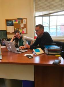 Keld Bangsberg and Maureen Trafford discuss GEM at Smith College