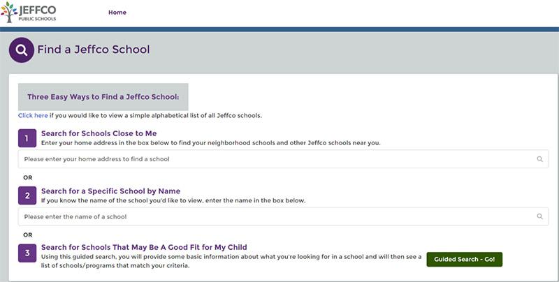 Jeffco School Finder
