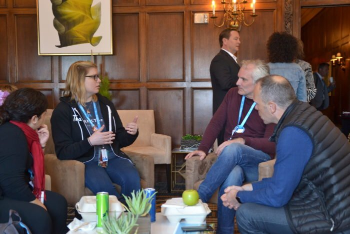 Dreamforce attendees networking at last year's event