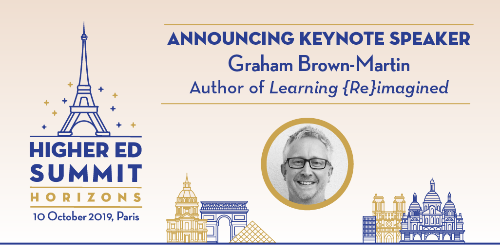 Announcing Graham Grown-Martin as Higher Ed Summit Horizons Speaker