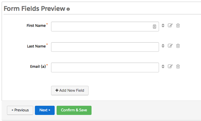 Use forms to gather prospect information
