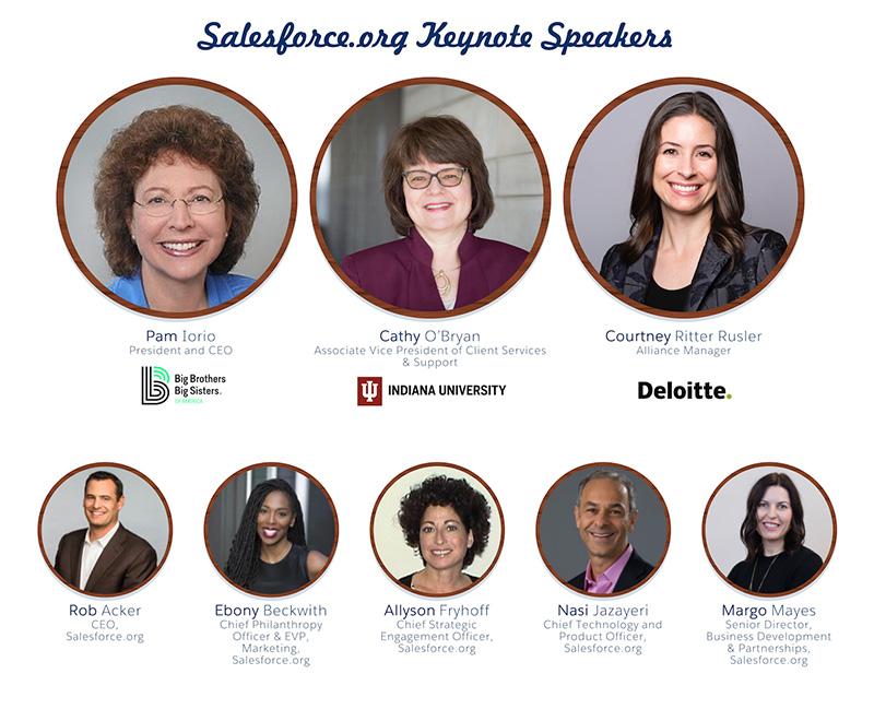 Salesforce.org Dreamforce 2019 keynote speakers
