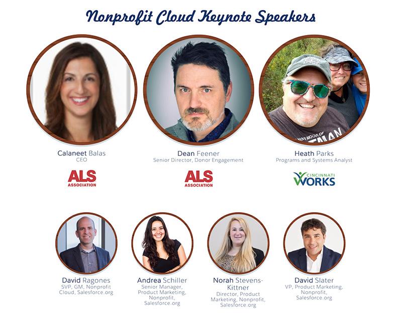Salesforce.org Nonprofit Cloud Dreamforce 2019 Keynote Speakers