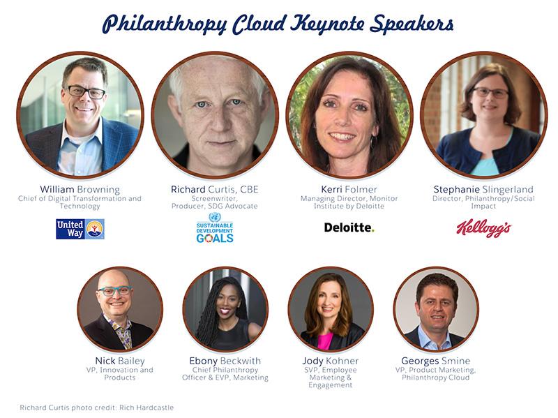 Salesforce.org Philanthropy Cloud Dreamforce 20129 Keynote Speakers