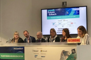Photo of panel discussion at Future EdTech