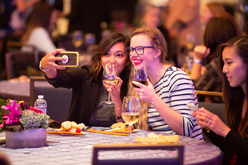 Partygoers at Dreamforce '18