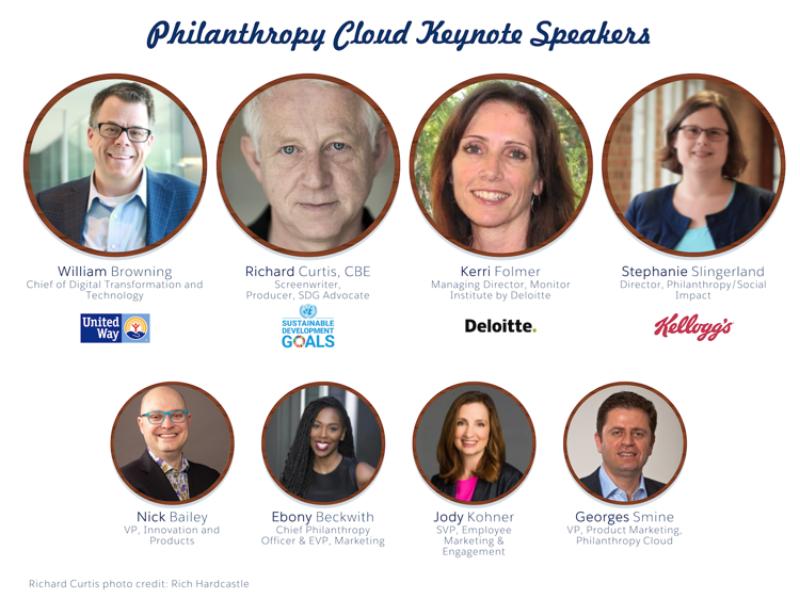 Salesforce.org Philanthropy Cloud Dreamforce keynote speakers
