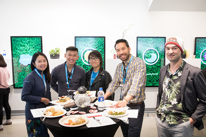 Lunch at the #EqualityForAll luncheon at Dreamforce '18.