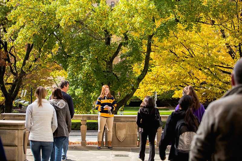 University of Pittsburgh campus tour. Photo credit: University of Pittsburgh