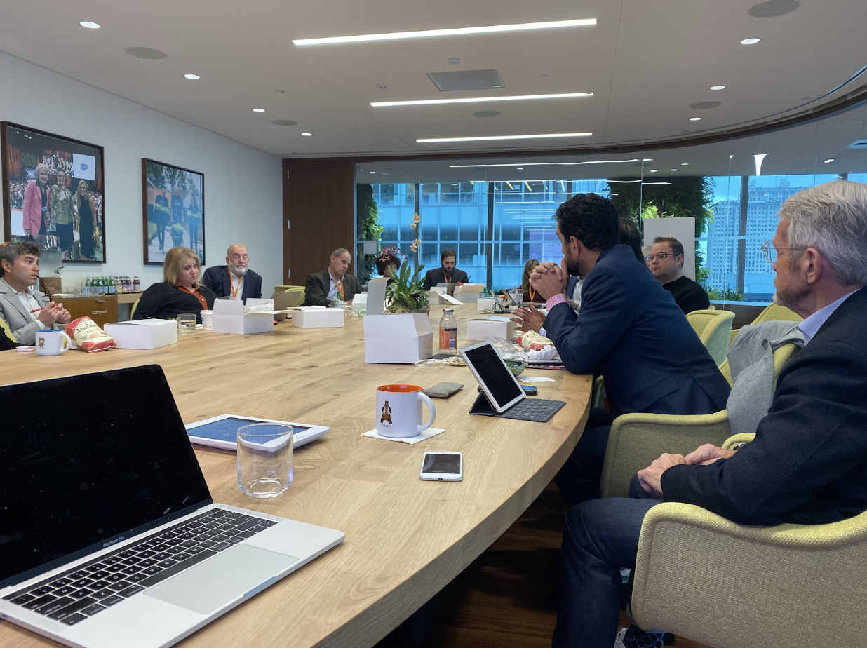 Nonprofit technology leaders meet at the Salesforce.org Nonprofit CIO Council meeting in New York City, October 2019.