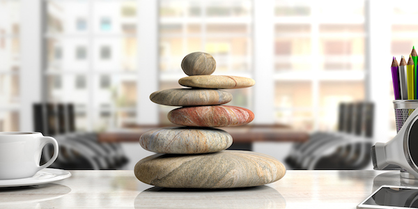 Photo of calming office decorations inspired by Zen