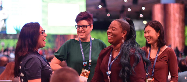 Tami Lau and fellow community members at Dreamforce 2019.