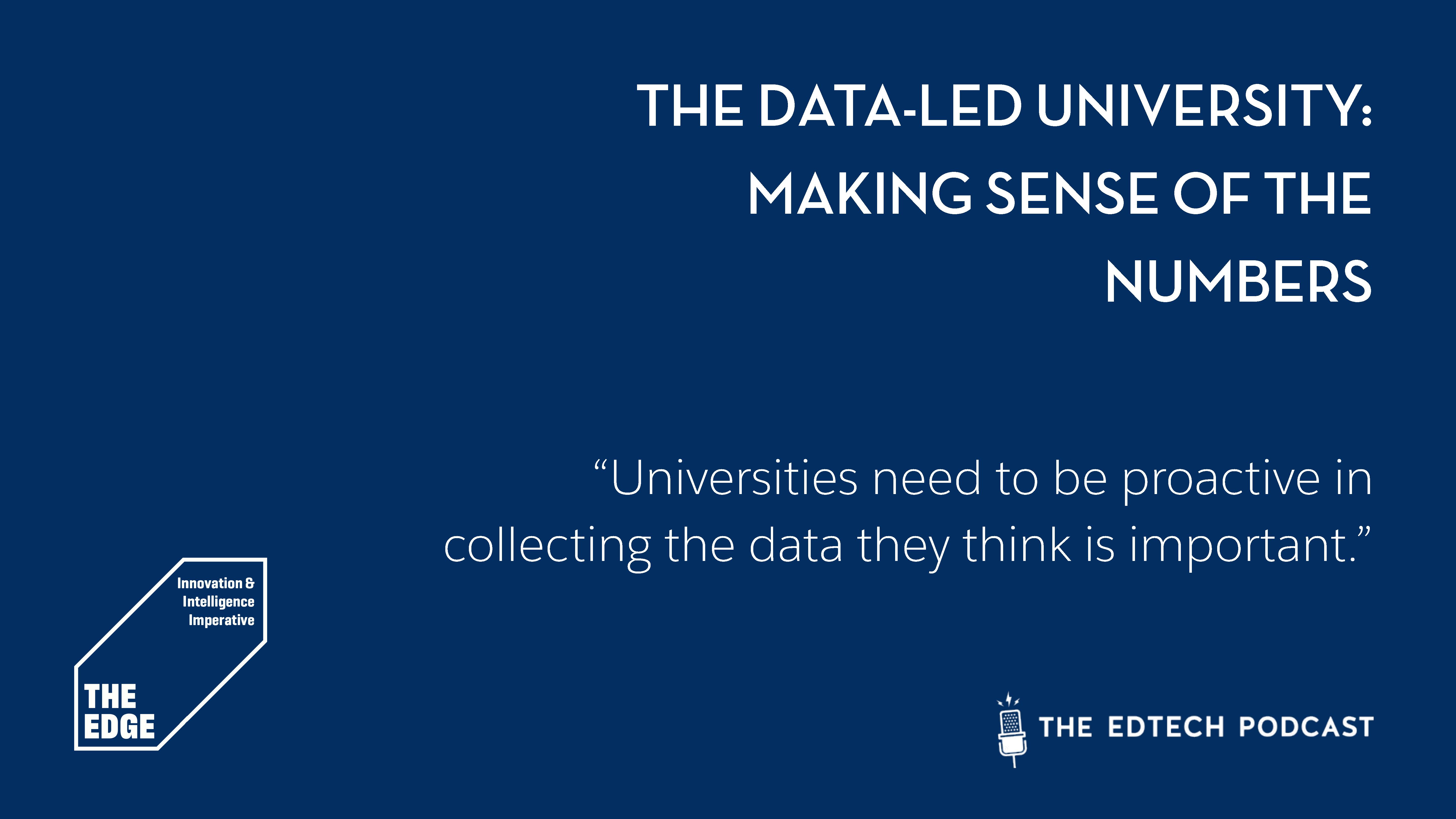 Epidsode 3 | The Data-led University: Making Sense Of The Numbers