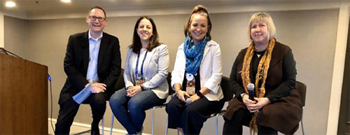 """Panelists of """"How to Market Your Digital Program Internally: Pitch the Move to Salesforce."""""""