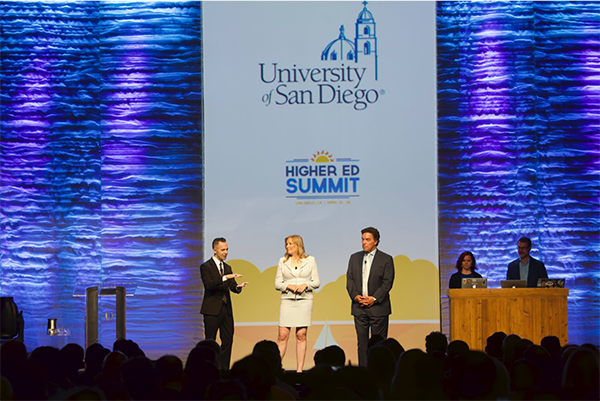 Alt text: Panel session at Higher Ed Summit 2019