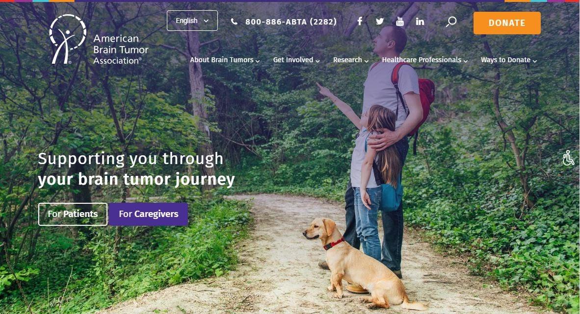 Screenshot showing excellent UX design for a nonprofit website
