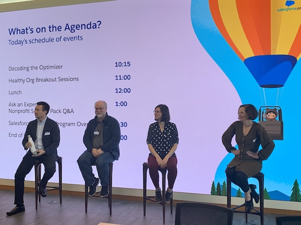 "Gordon Lee, Dale Gish, Natalie Vaynberg and Anne Crawford on the Ask A Expert panel for the Nonprofit Success Pack at the ""New Year, New Org"" in-person training in January."