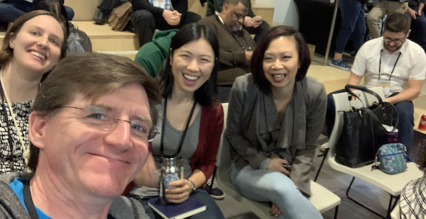 Image Credit: Corey Snow. Jessie Rymph, Corey Snow, Tami Lau and Jennifer Lee at Cactusforce, a community-led conference in Phoenix with three tracks: Developers, Architects and Configurators.