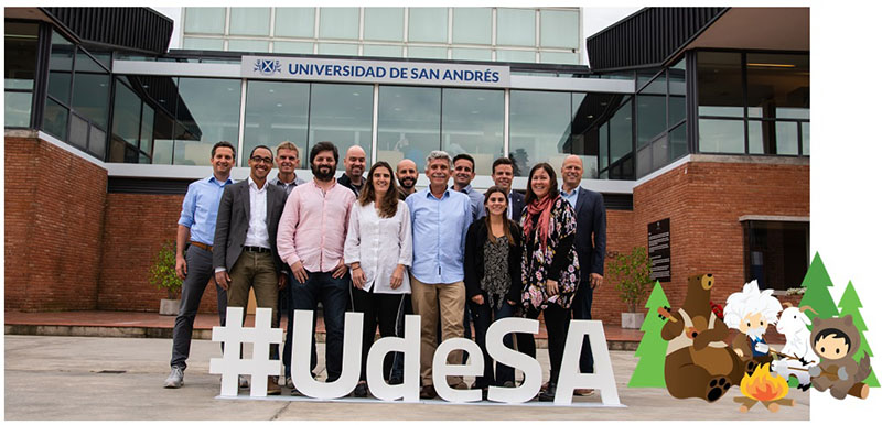 Salesforce employee volunteers with UdeSA's technology team