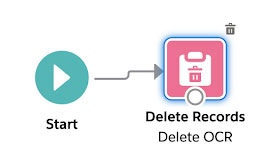 "Image showing the ""start - delete records"" elements in flow"
