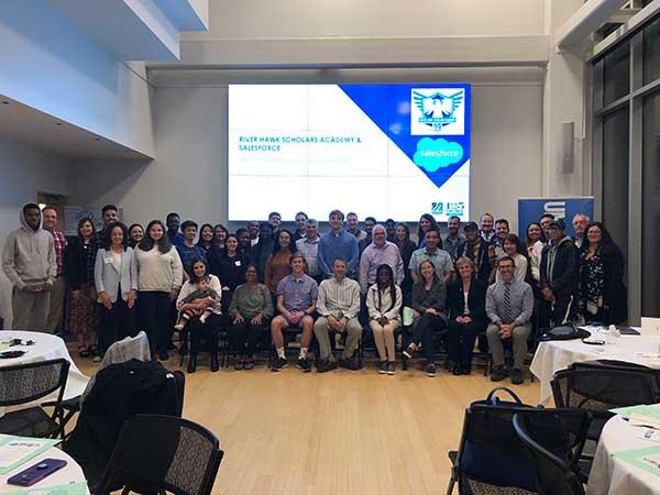 40 mentors and mentees meet at River Hawk Scholars Academy